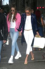GIGI and YOLANDA HADID Out Shopping in New York 07/17/2018