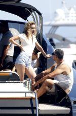 GIGI HADID and EMILY RATAJKOWSKI at a Boat in Mykonos 07/01/2018