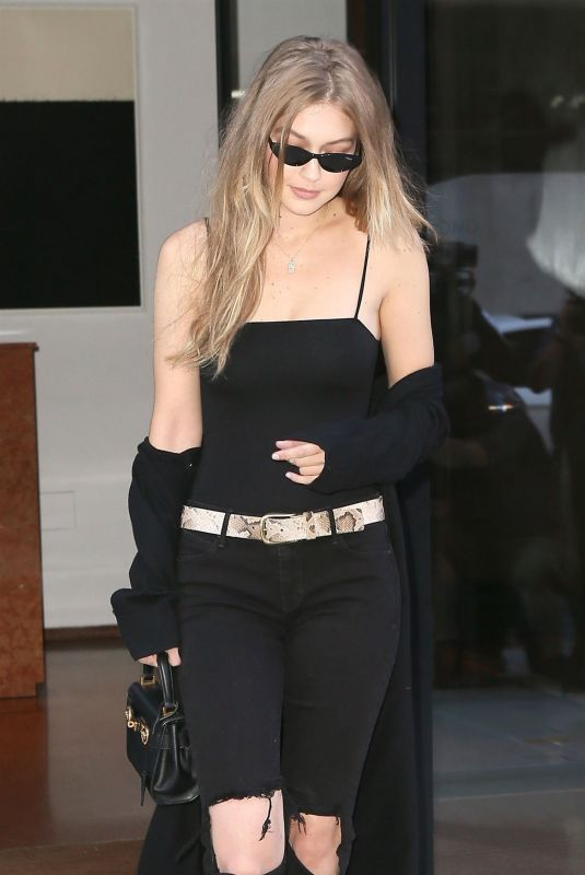GIGI HADID Heading to Taylor Swift Concert in New York 07/20/2018