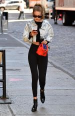 GIGI HADID in Tights Out in New York 07/19/2018