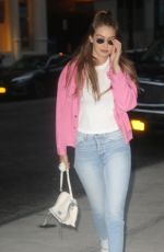 GIGI HADID Out and About in New York 07/17/2018