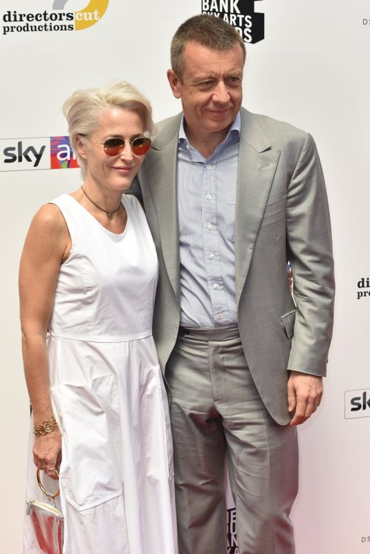 GILLIAN ANDERSON and Peter Morgan at Southbank Sky Arts Awards 2018 in London 07/01/2018