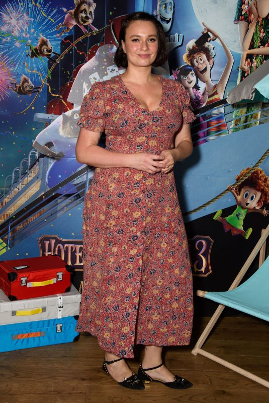 GIZZI ERSKINE at Hotel Transylvania 3 Gala Screening in London 07/15/2018