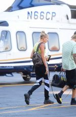 HAILEY BALDWIN and Justin Bieber Boarding a Helicopter in New York 07/11/2018