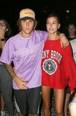 HAILEY BALDWIN and Justin Bieber Heading to a Movies in New York 07/26/2018