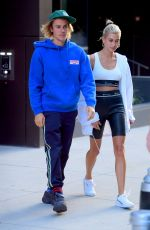HAILEY BALDWIN and Justin Bieber Out in Brooklyn 07/12/2018