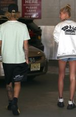 HAILEY BALDWIN and Justin Bieber Out in New York 07/10/2018