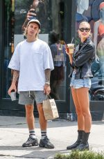 HAILEY BALDWIN and Justin Bieber Out in New York 07/28/2018