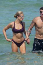 HAILEY CLAUSON in Bikini on the Beach in Miami 07/15/2018