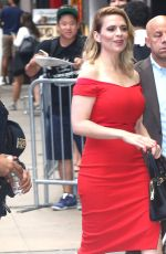 HAYLEY ATTWELL Arrives at Good Morning America in New York. 07/24/2018