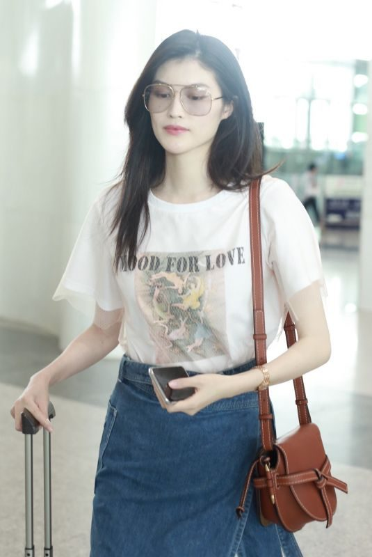 HE SUI  at Beijing International Airport 07/19/2018