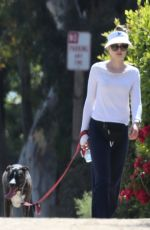 HEATHER GRAHAM Out with Her Dog in Malibu 07/07/2018