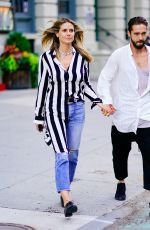 HEIDI KLUM and Tom Kaulitz Out in New York 07/07/2018