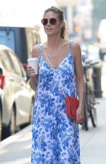 HEIDI KLUM Out for Coffee in New York 07/02/2018