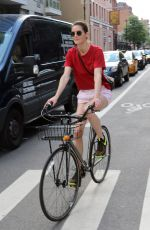 HILARY RHODA Riding a Bike Out in New York 07/18/2018