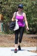 ILLEANA DOUGLAS in Leggings Out in Los Angeles 07/28/2018