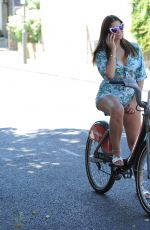 IMOGEN THOMAS Riding at Bike Out in London 07/20/2018