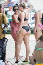 ISKRA LAWRENCE in Bikini at a Beach in Miami 07/12/2018