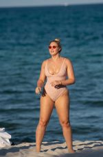 ISKRA LAWRENCE in Swimsuit at a Beach in Miami 07/14/2018