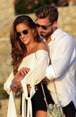 IZABEL GOULART at Their Engagement Party in Mykonos 07/06/2018