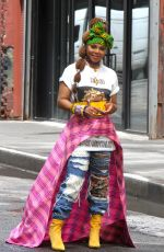 JANET JACKSON on the Set of Her Music Video in Brooklyn 07/23/2018