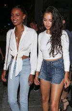 JASMINE TOOKES and SHANINA SHAIK at Catch LA in West Hollywood 07/06/2018