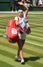 JELENA OSTAPENKO at Wimbledon Tennis Championships in London 07/12/2018