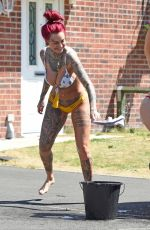 JEMMA LUCY and ALICIA SUMMERS in Bikinis Washing a Car in Manchester 07/05/2018