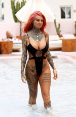 JEMMA LUCY in Swimsuit at a Pool in Ibiza 07/23/2018