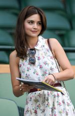 JENNA LOUISE COLEMAN at Wimbledon Tennis Championships in London 07/13/2018