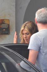 JENNIFER ANISTON Leaves Her Hotel in Santa Margherita Ligure 07/27/2018