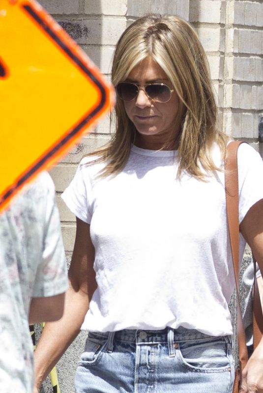JENNIFER ANISTON on the Set of Murder Mystery in Montreal 07/18/2018