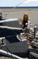 JENNIFER ANISTON on the Set of Murder Mystery in Portofino 07/26/2018