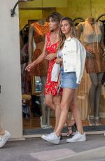 JENNIFER FLANVIN, SISTINE, SOPHIA and SCARLET STALLONE Out in Saint Tropez 07/12/2018
