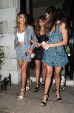 JENNIFER FLAVIN, SCARLET, SISTINE and SOPHIA STALLONE Leaves Annabel's Member's Club in London 07/05/2018