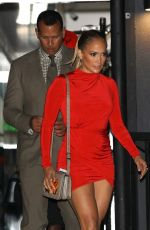JENNIFER LOPEZ in Red Minidress Out in West Hollywood 07/13/2018