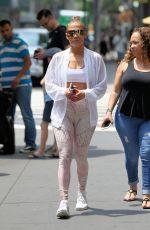 JENNIFER LOPEZ Leaves a Gym in New York 07/01/2018