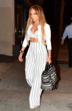 JENNIFER LOPEZ Out for Dinner at Craig