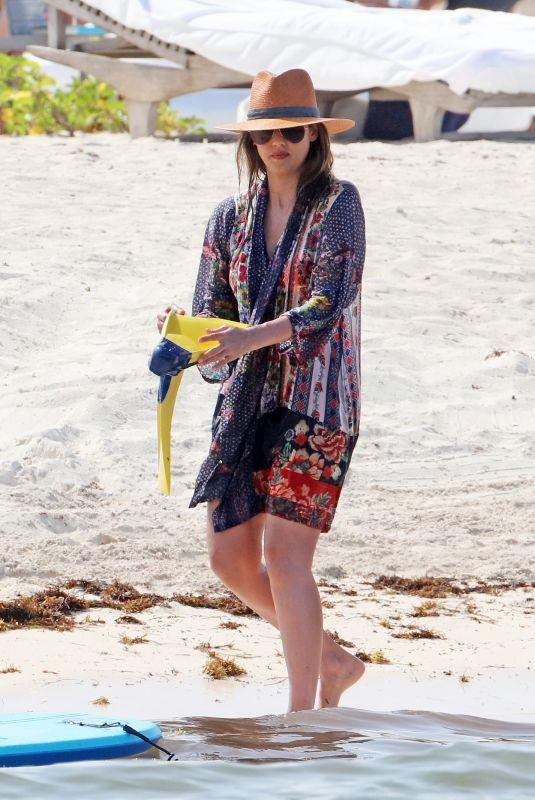 JESSICA ALBA at a Beach in Mexico 07/05/2018