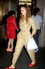 JESSICA ALBA Leaves an Office Building in New York 07/24/2018