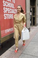 JESSICA ALBA Leaves Staples Store on 5th Avenue in New York 07/24/2018
