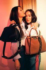 JESSICA and KRYSTAL JUNG for Fendi My Peekaboo 2018 Campaign