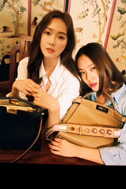 JESSICA and KRYSTAL JUNG for Fendi My Peekaboo 2018 Campaign