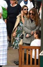 JESSICA BIEL and Justin Timberlake at Wimbledon Tennis Championships in London 07/10/2018