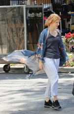 JESSICA CHASTAIN on the Set of It: Chapter Two in Toronto 07/11/2018