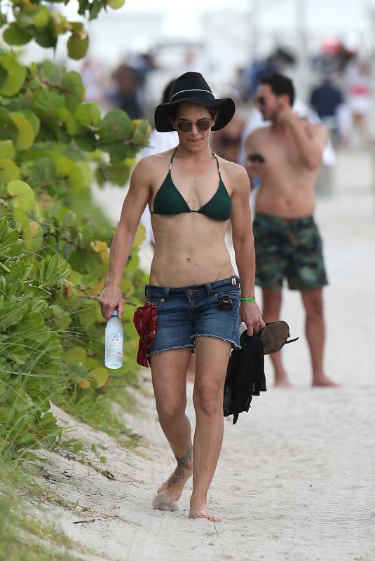 JILLIAN MICHALS at a Beach in Miami 07/05/2018