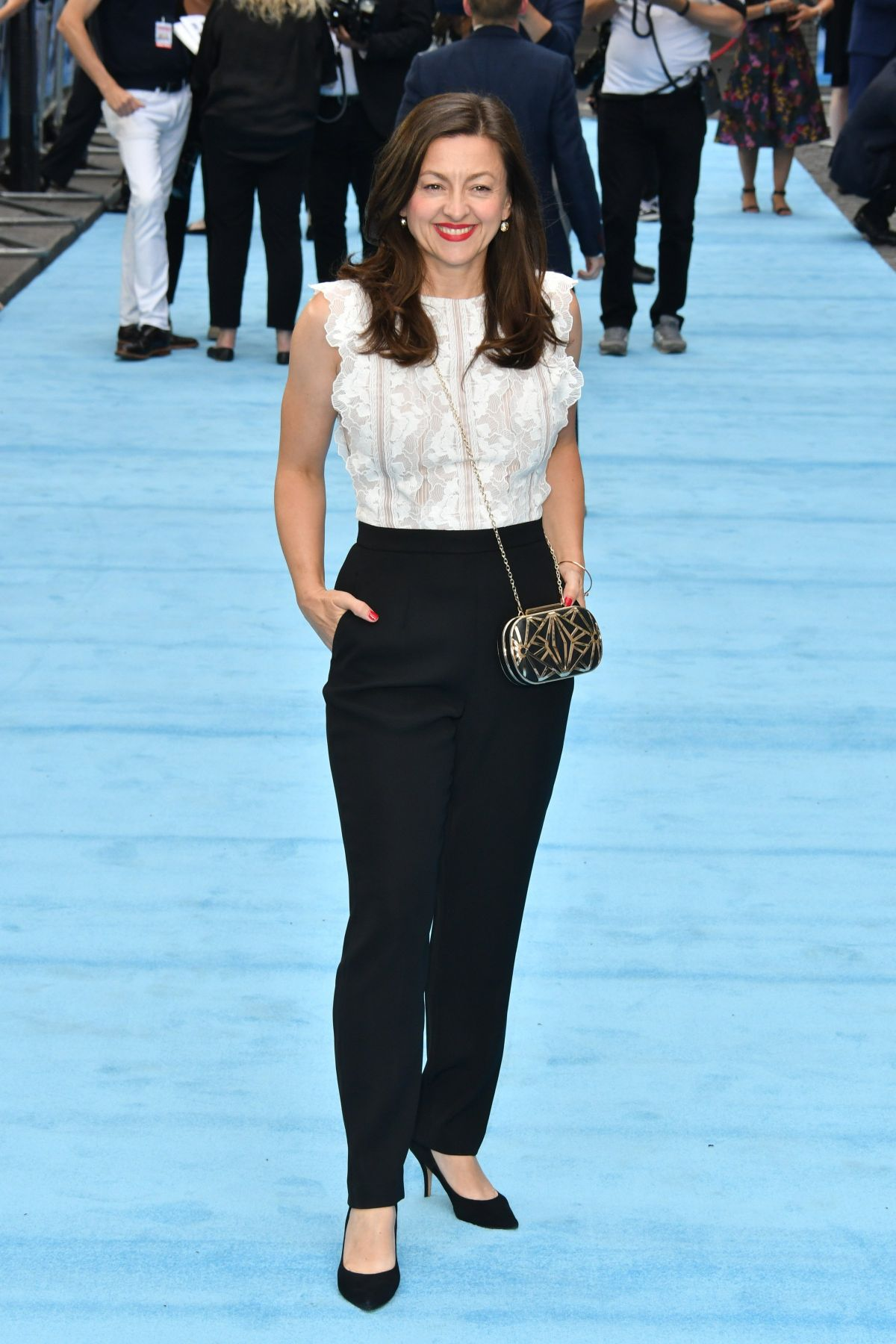 Jo Hartley attends the UK Premiere of Swimming With Men