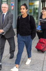 JODIE WHITTAKER and MANDEEP GILL at Heathrow Airport in London 07/23/2018