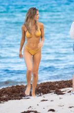 JOY CORRIGAN in Bikini at a Beach in Miami 07/12/2018