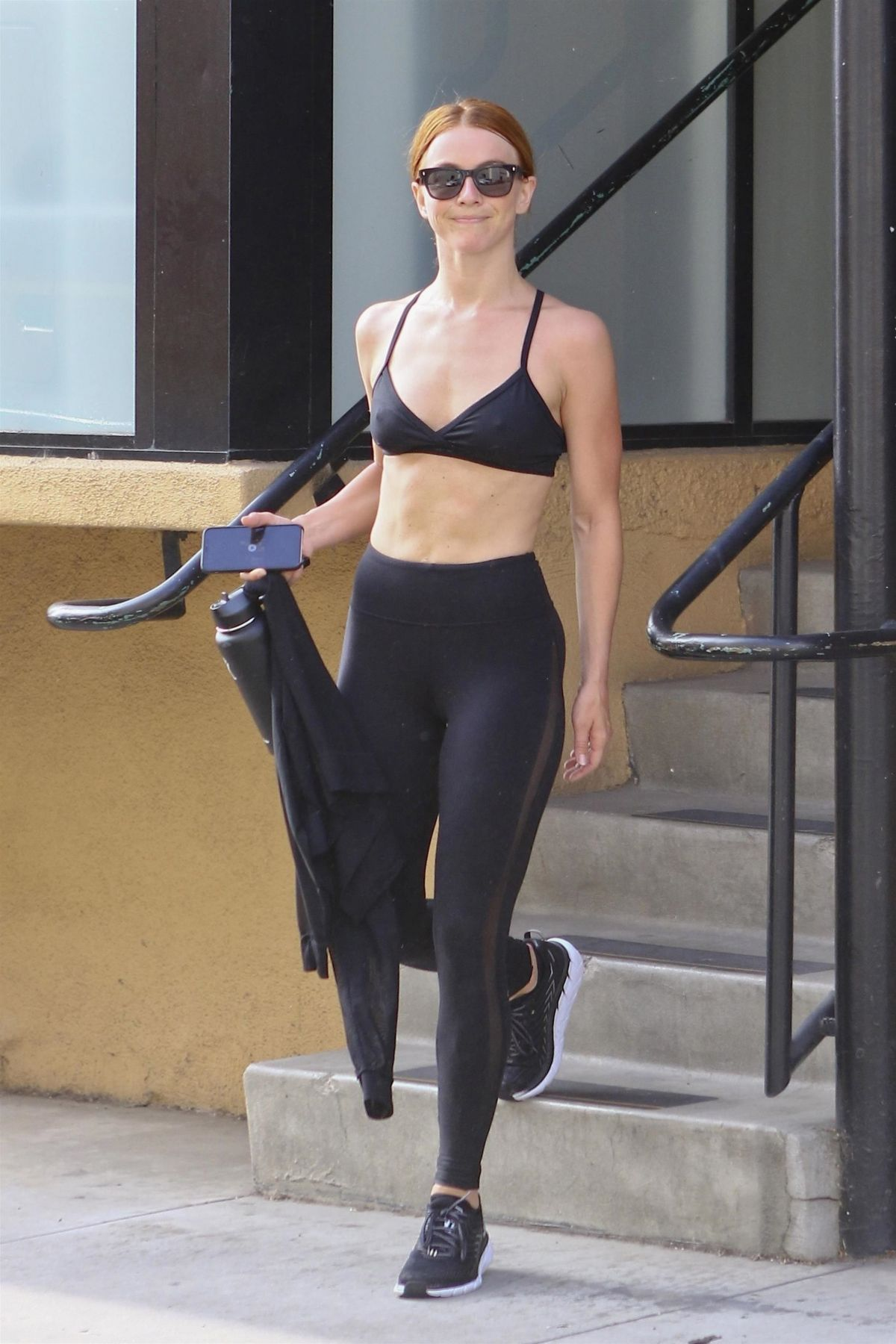 JULIANNE HOUGH in Tights Leaves Dance Class in Los Angeles